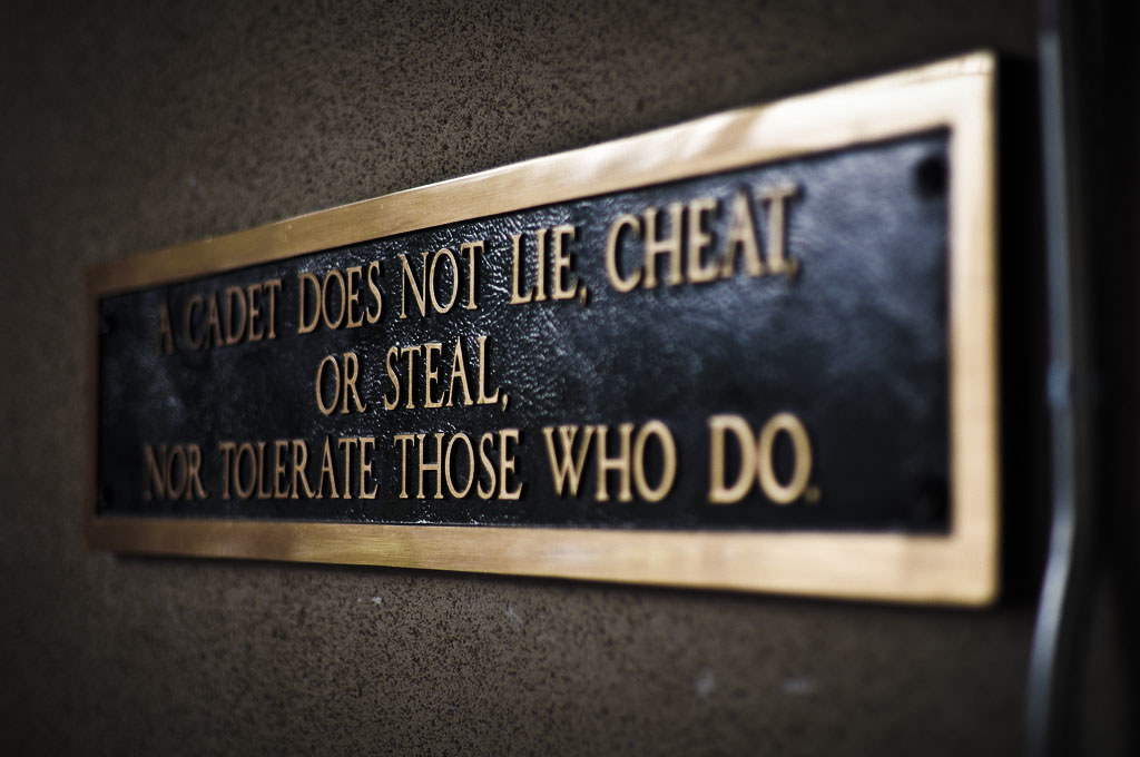 A Cadet Does Not Lie Cheat Steal Nor Tolerate Those Who