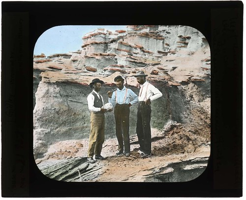 Barbour, Wortman, and Gidley on paleontological expeditions, 1900-1935. | by Smithsonian Institution