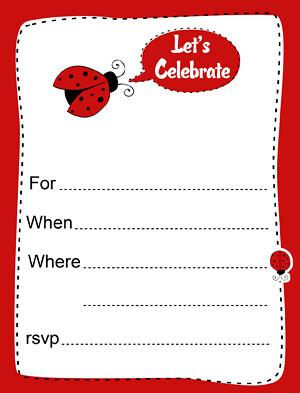 Ladybug Invitation Printable A Printable Ladybug Party