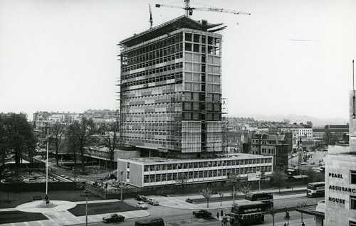 Civic Centre Under Construction Viewed From Upper Floor