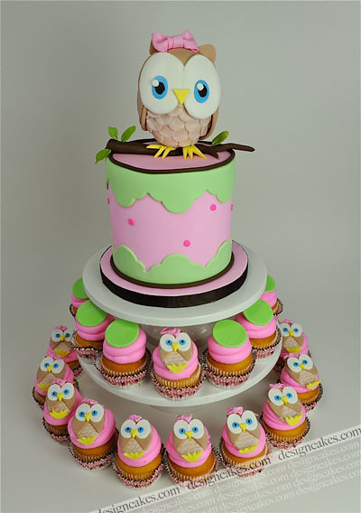 Owl First Birthday Cake Christine Pereira Flickr