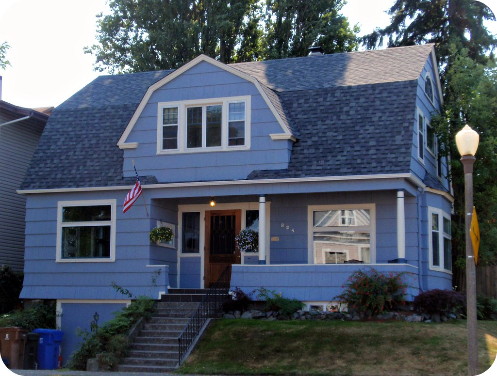 Blue Dutch Colonial House North Historic District Of