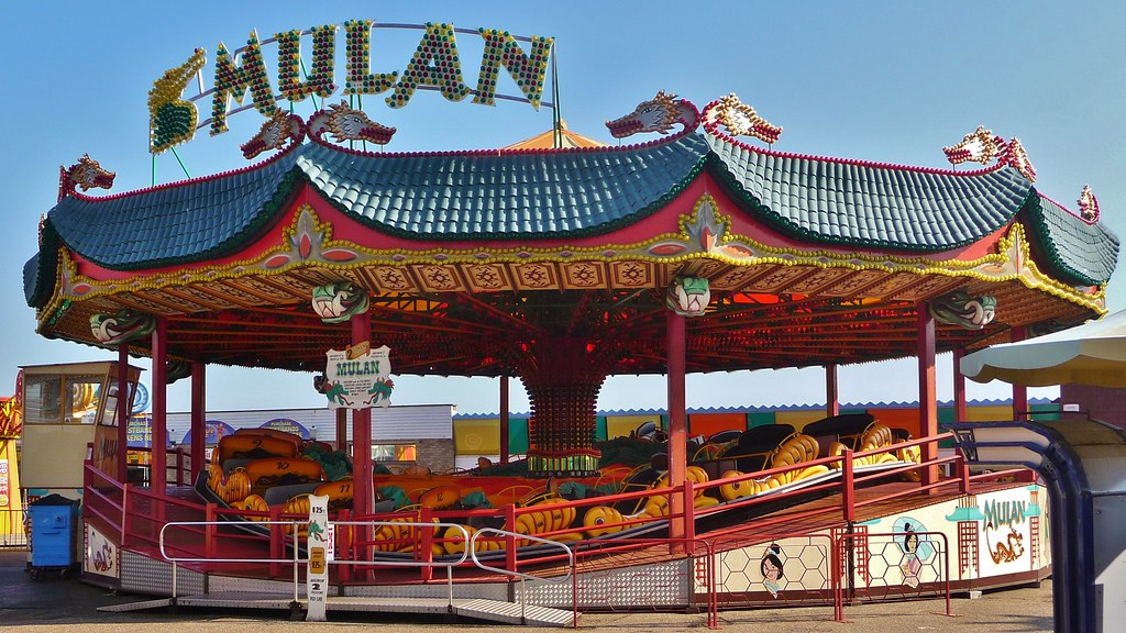 Great Yarmouth Pleasure Beach Mulan By Coaster Scenery