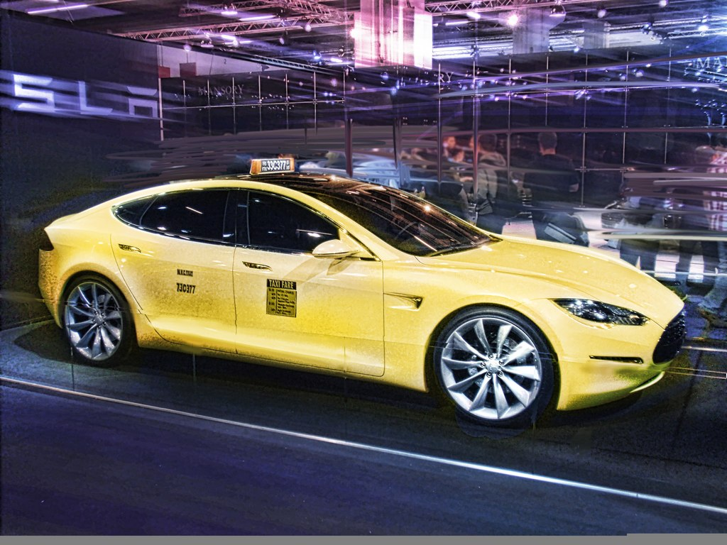 Model Car Photos >> Tesla Model S as electric taxi | The Tesla S as a Taxi? Isn'… | Flickr