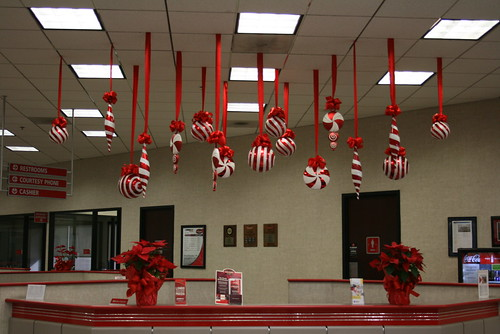 Extra Large Hanging Christmas Decorations Red And