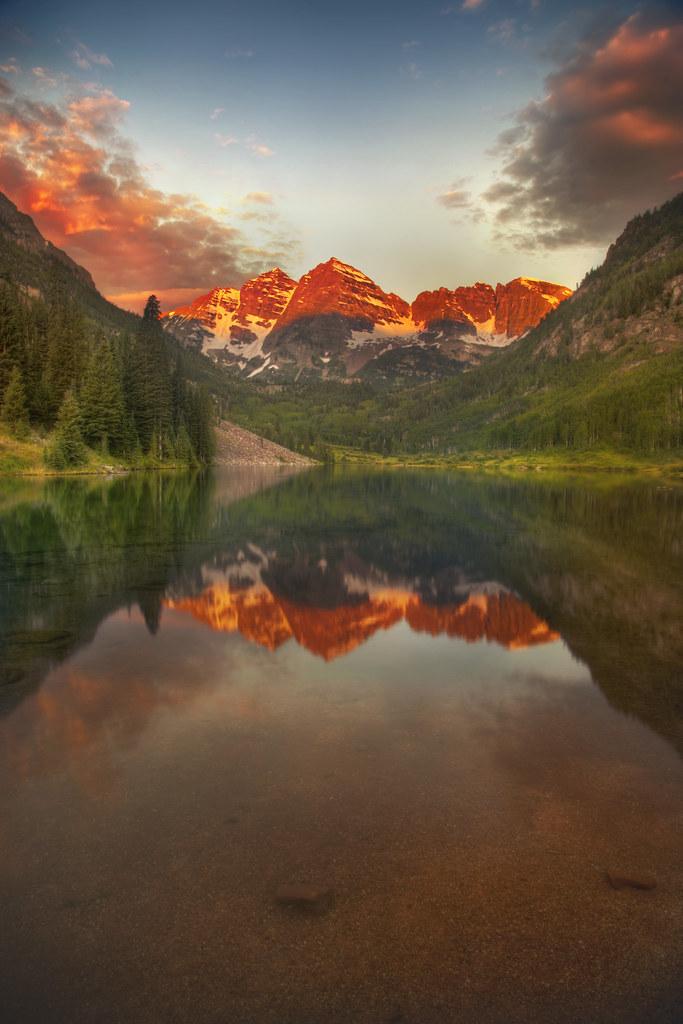 'Maroon Bells,' United States, Colorado, Aspen, Maroon Bel ...
