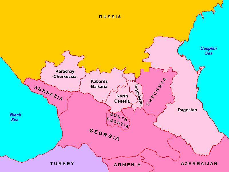Image result for Грузия Чечня карта