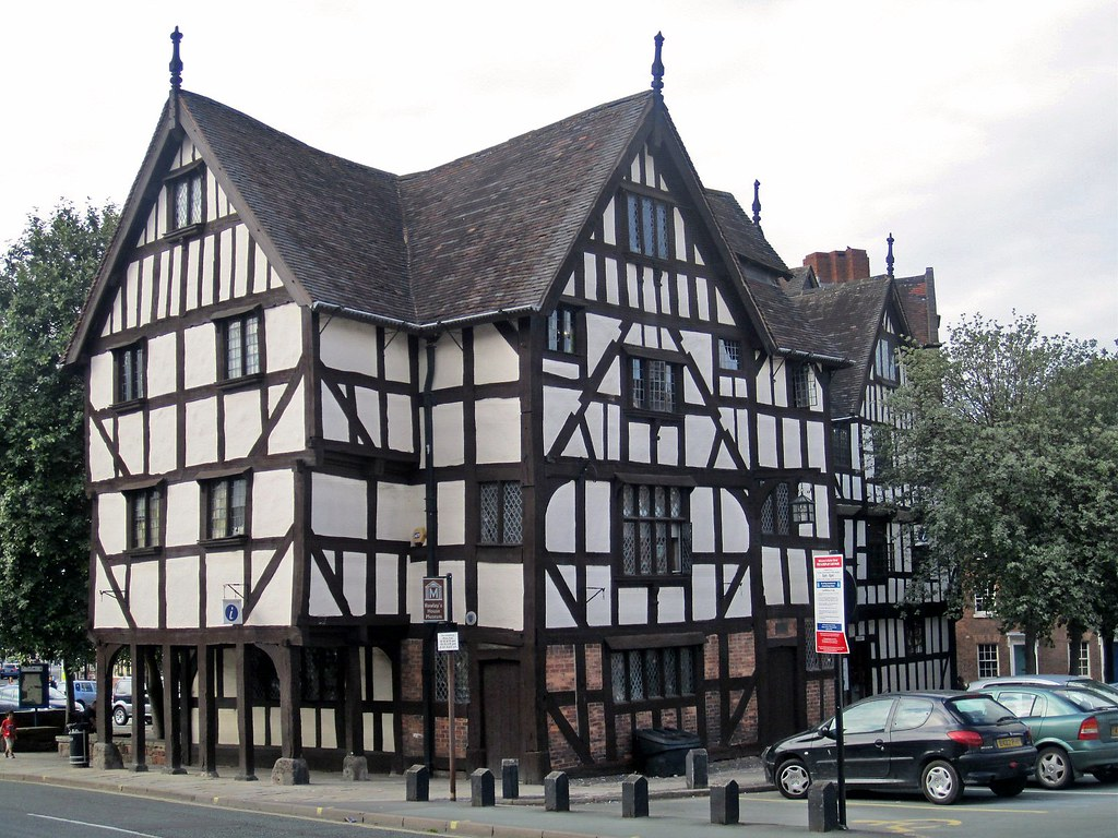 rowley 39 s house half timbered mansion in shrewsbury engla flickr. Black Bedroom Furniture Sets. Home Design Ideas