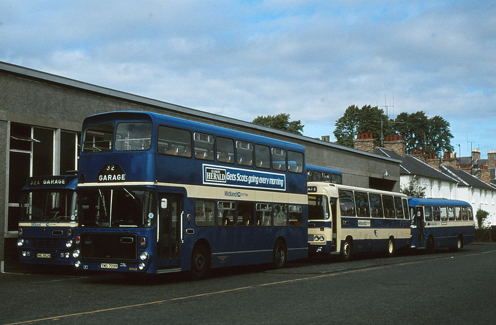 Midland Scottish Perth Depot 1981 | MRA9 YMS709R a 1977 ...