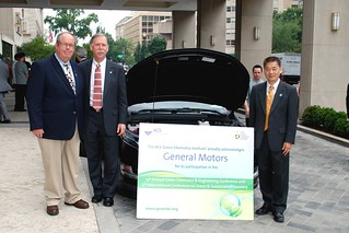The Conference Co-Chairs posing with the Chevy Volt | by ACS Green Chemistry Institute