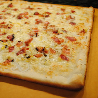 Sweet Corn and Bacon Pizza | by katbaro