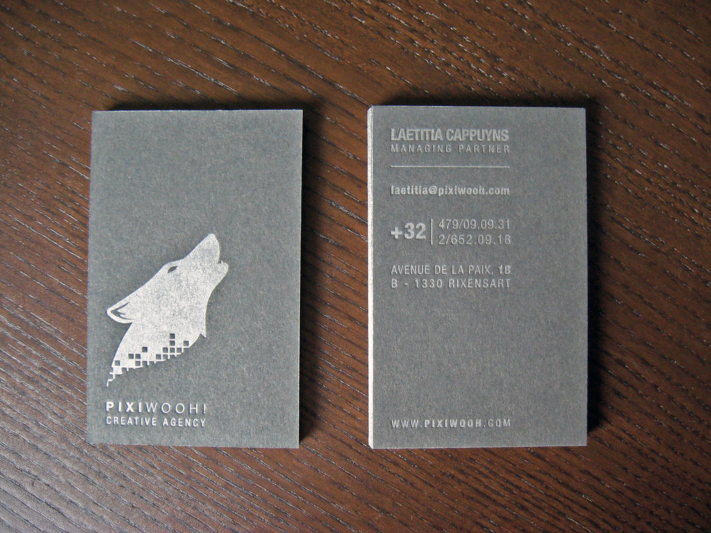 European Letterpress Business Cards | Client: Pixiwooh! Crea… | Flickr