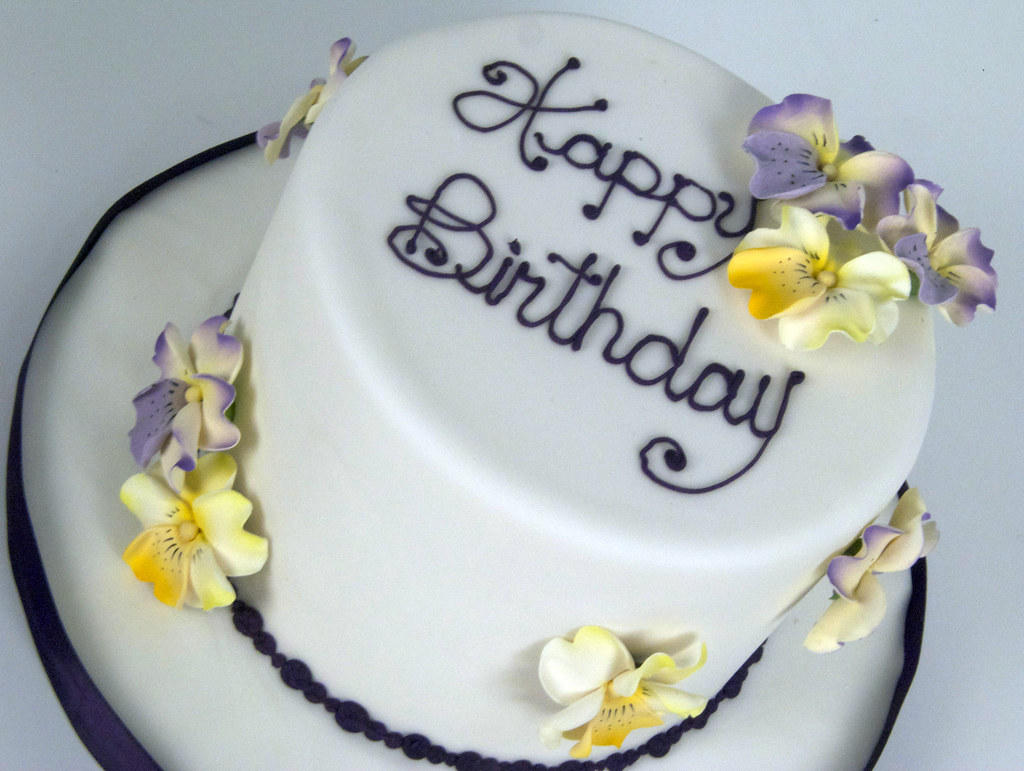 Pansy Birthday Cakes