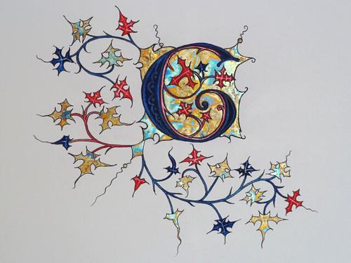 Illuminated gothic letter 'G' | Illuminated gothic letter 'G ...