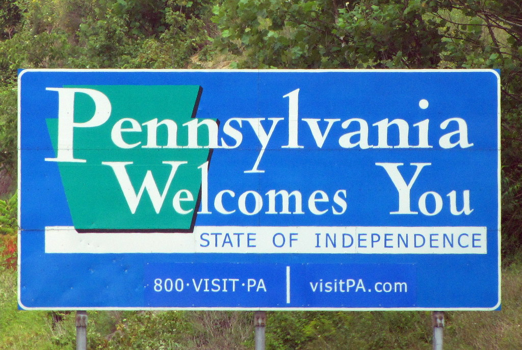 pennsylvania welcome state sign pa welcomes hamilton