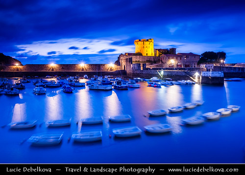 France - Cote Basque - Medieval Fort Socoa - Dusk - Twilight - Blue Hour | by © Lucie Debelkova / www.luciedebelkova.com