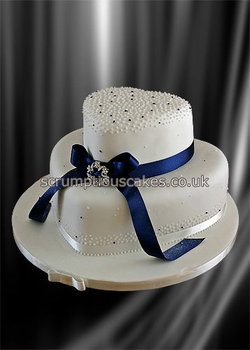 Blue Ribbon For Wedding Cakes
