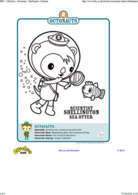 octonauts coloring pages bbc - photo#8