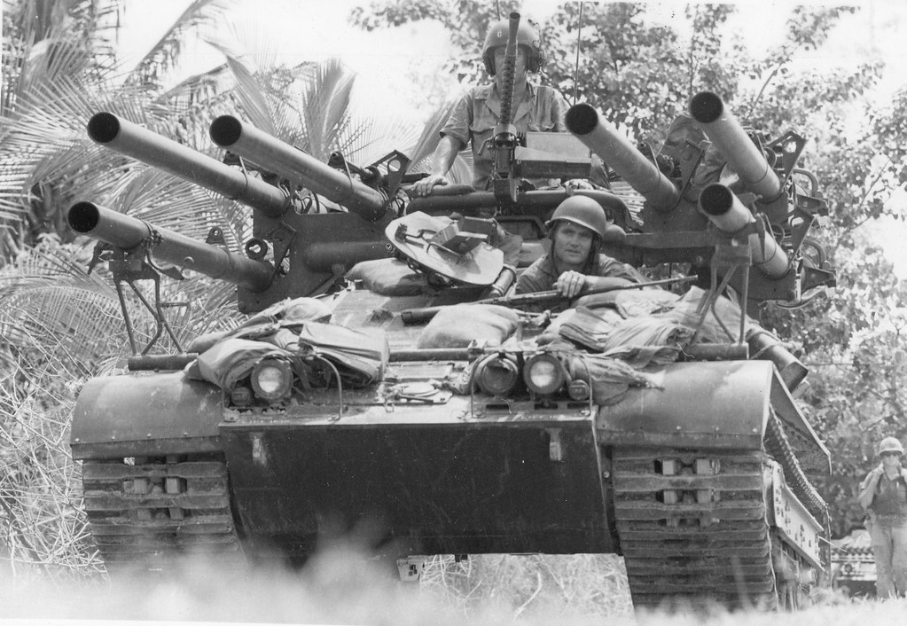 The M50 Ontos was a marginal tank killer but was devastating against infantry. Imagine what a .50, digital targeting and a remote operation system could do? (Photo from Wikimedia Commons)