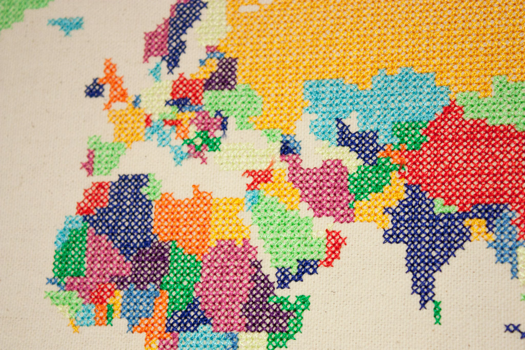 World Map Cross Stitch | Daniel Linwood Crawford | Flickr