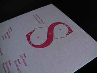 letterpress type anatomy postcard: capital S | by satoschi (eszett, mojirukai)