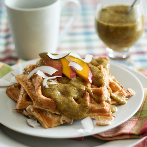 Mango and Pineapple Buttermilk Waffles-7 | by Sonia! The Healthy Foodie