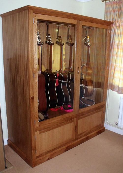 Merveilleux ... Oak Guitar Display Cabinet 3 | By James Allen Cooper