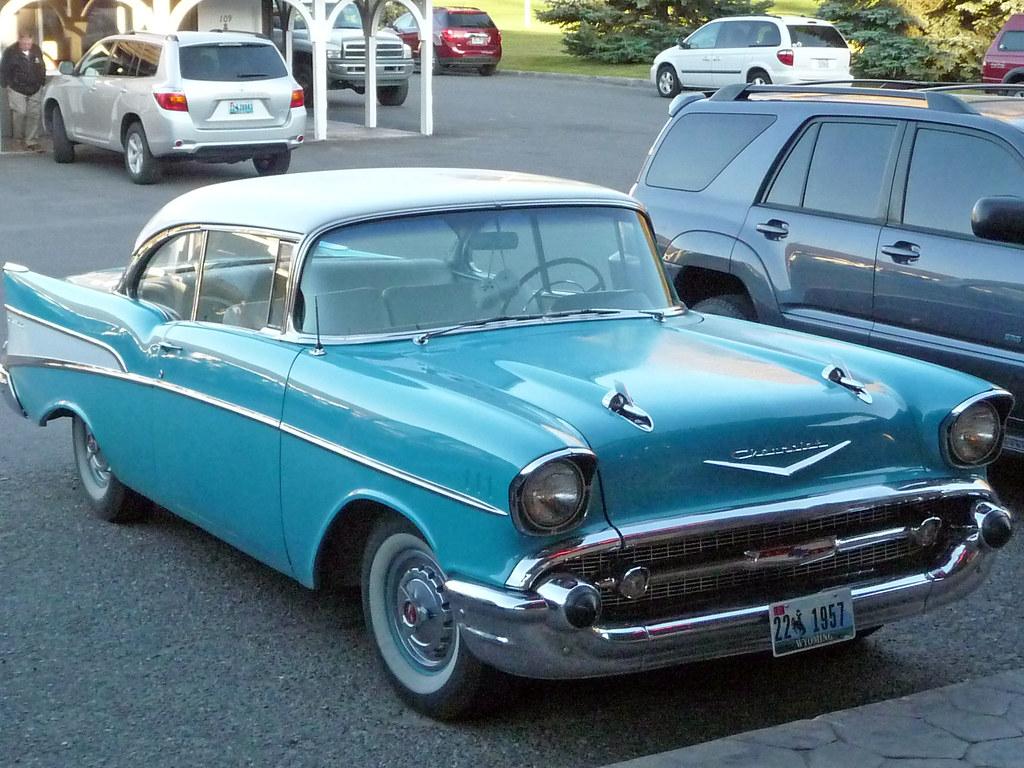 Blue And White Classic Car | David Valenzuela | Flickr