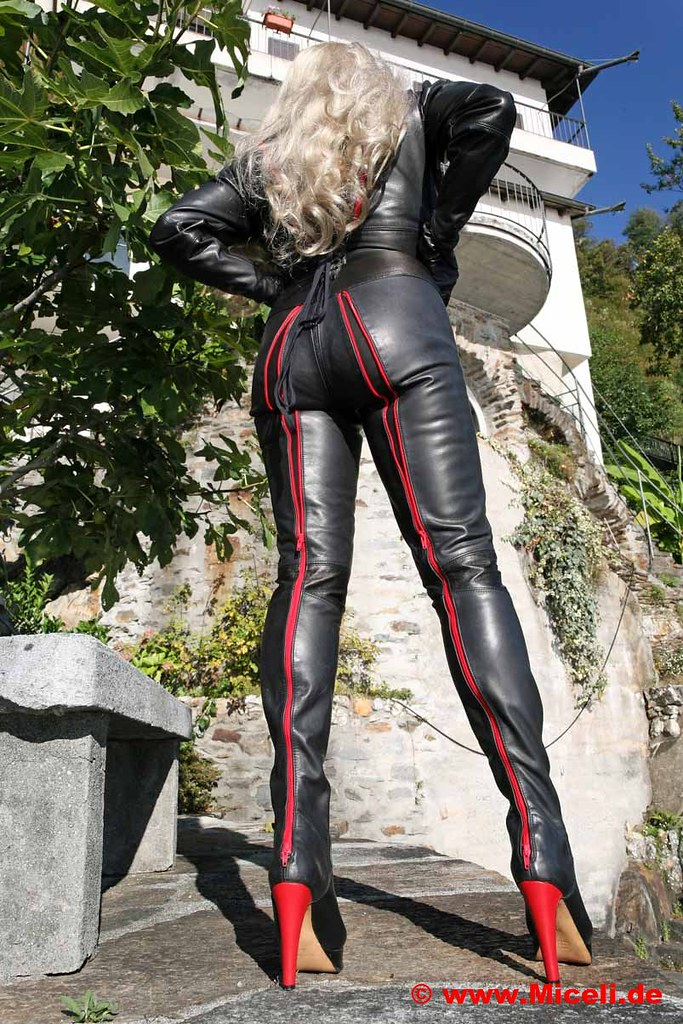 All-In-One Leather Boot-Suit  Wwwmicelide  Veronica -1531