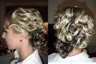 curly-updo-wedding-hairstyle | by vanmobilehair
