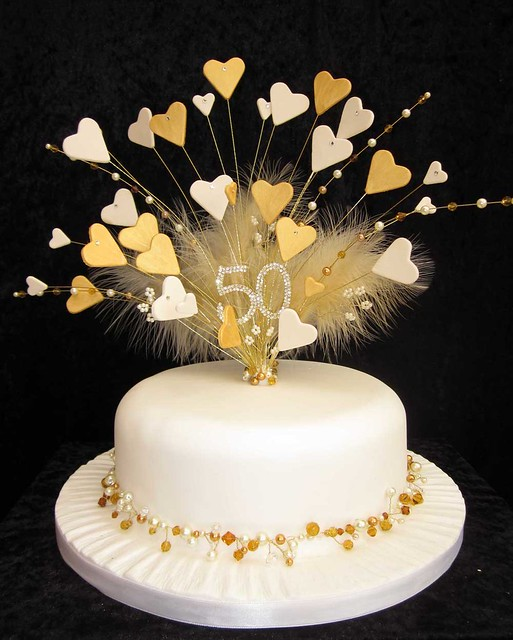 50th golden wedding anniversary cake topper Flickr ...