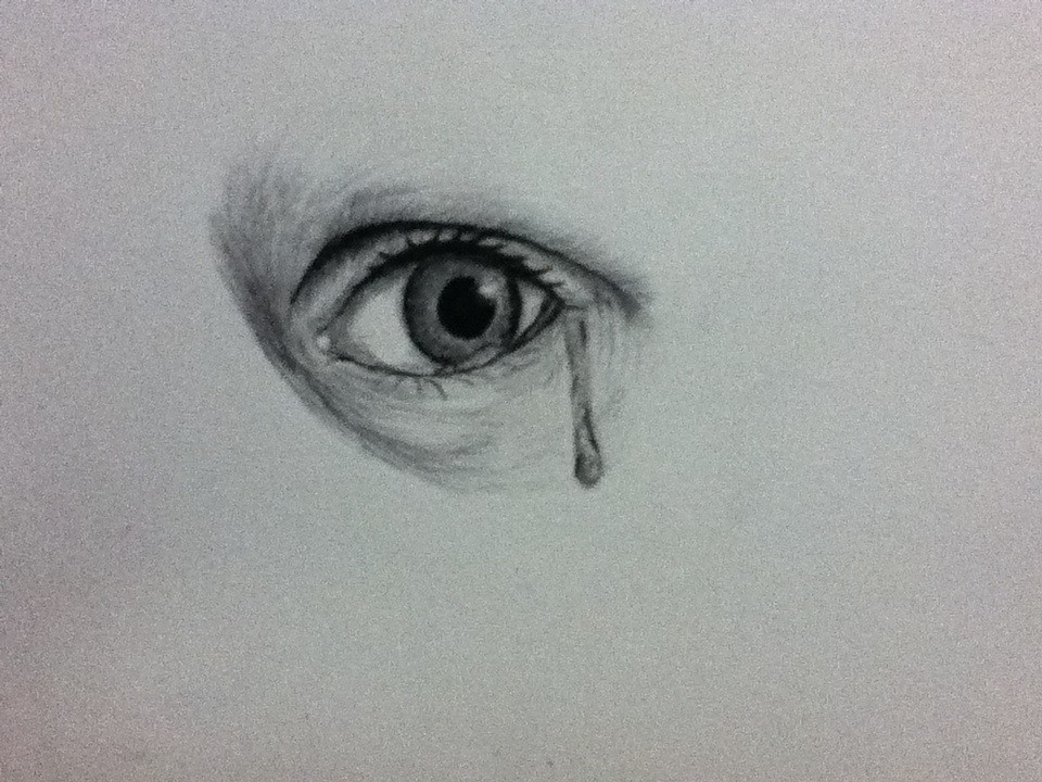 a drawing of a eye crying an eye i drew with a tear flickr