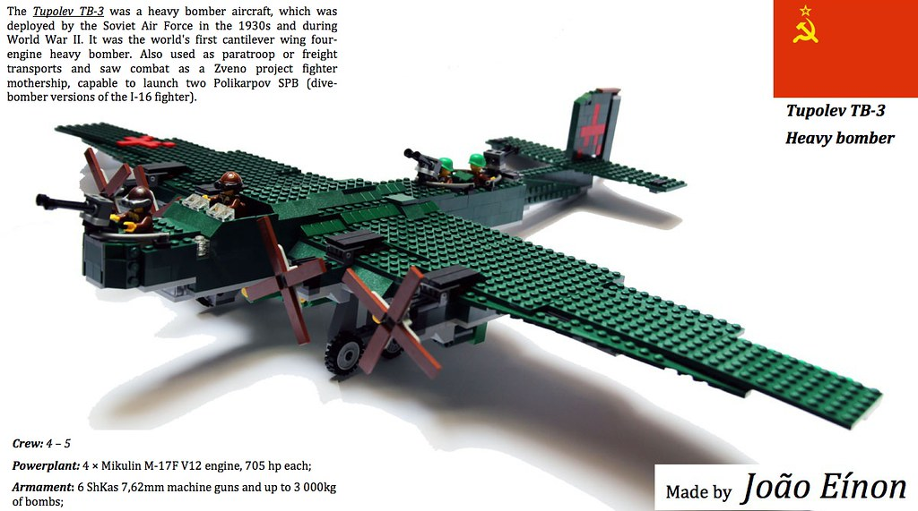 TB-3 Bomber Бомбардировщик Туполев ТБ-3 I made this bomber. Flickr