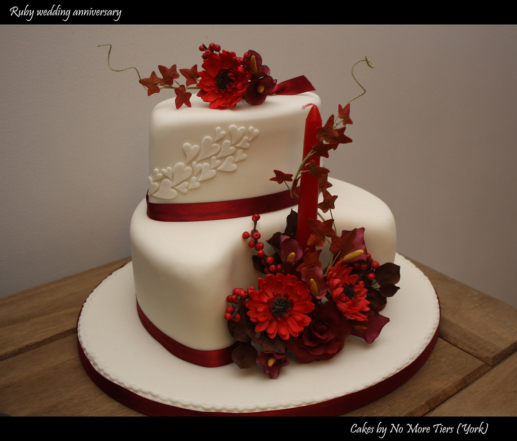 ruby wedding anniversary cake - autumnal | and now for somet… | flickr