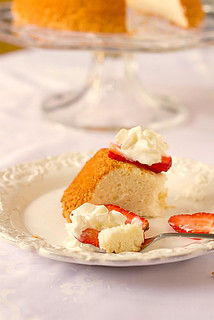 Love angel food cake w/strawberries & whipped cream | by Brown Eyed Baker