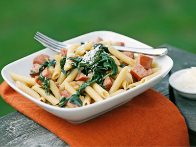 Swiss Chard and Kielbasa Pasta | by Sarah :: Sarah's Cucina Bella