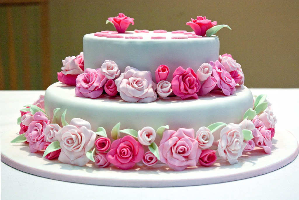 Pink Birthday Cake Decoration Ideas : Pink rose birthday cake Made for a 40th birthday party ...