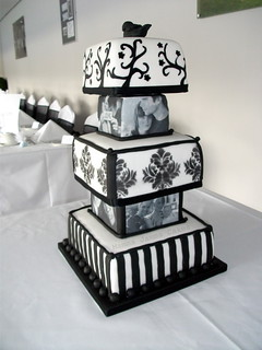 Monochrome Photo Wedding Cake | by MammaJammaCakes(very behind)