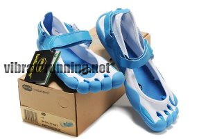 size 40 7fdec d7729 ... Mens Vibram Fivefingers Sprint shoes blue white   by Herman Dumars