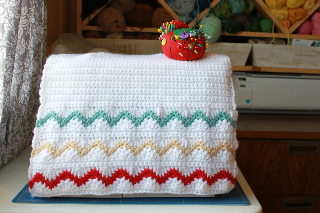 Chevron Stripes Sewing Machine Cover Free Crochet Pattern Flickr