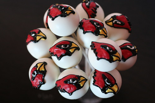 Arizona Cardinals Cake Pops | by Sweet Lauren Cakes