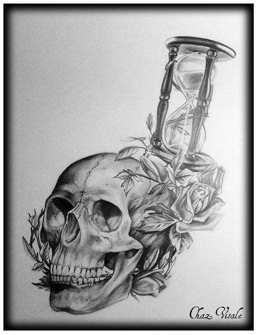 Skull Hourglass And Roses Ritual Arts Tattoo Amp Body
