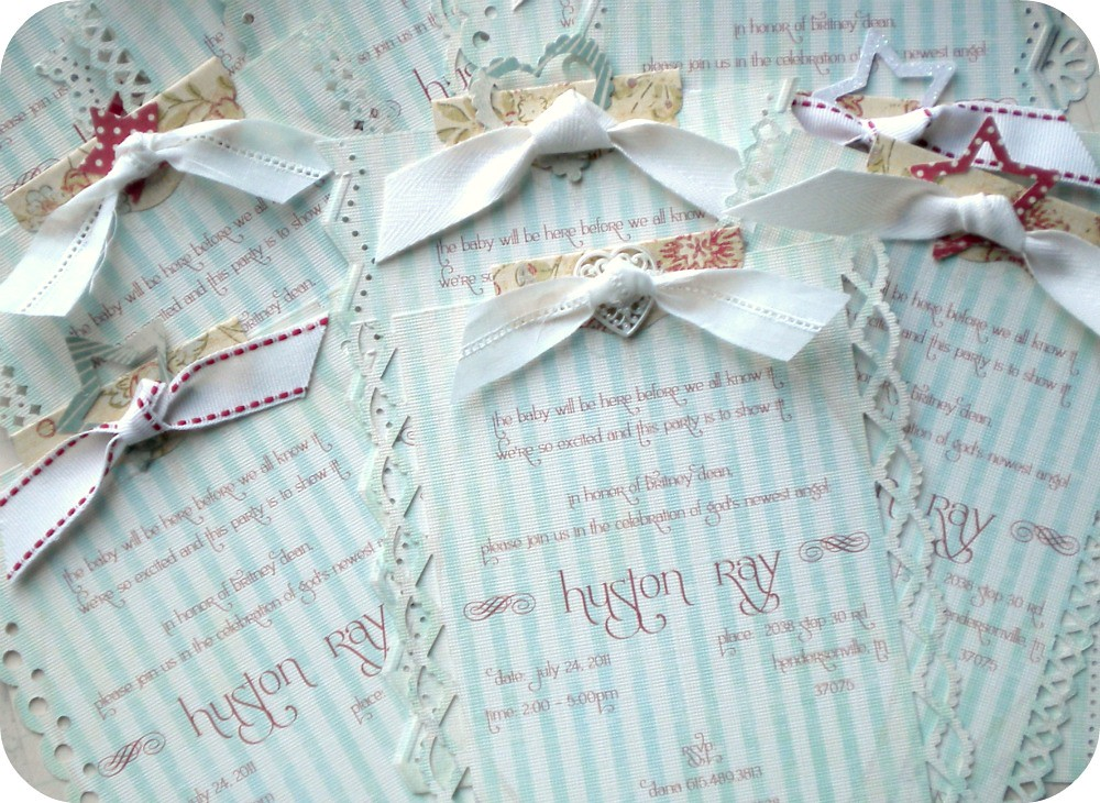 Shabby Chic Baby Shower Invitations | Once again, everything… | Flickr