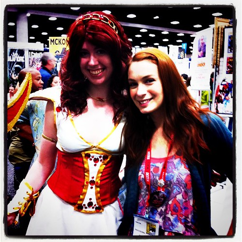 Me and a Codex! #SDCC | by felicia.day