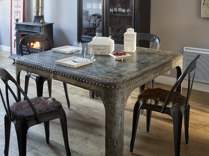 dining room decorating ideas industrial chic metal table g