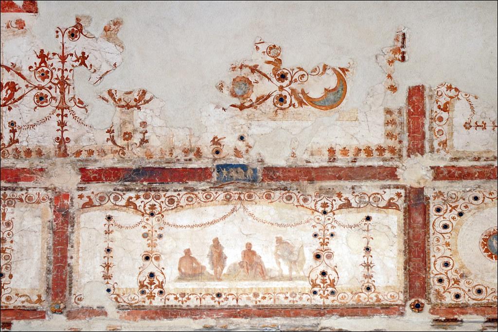 Peintures murales de la domus transitoria rome for Peintures murales