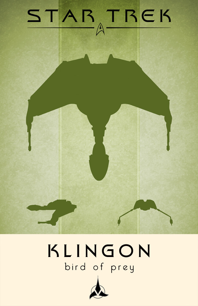 klingon bird of prey poster this is my little homage to on flickr. Black Bedroom Furniture Sets. Home Design Ideas