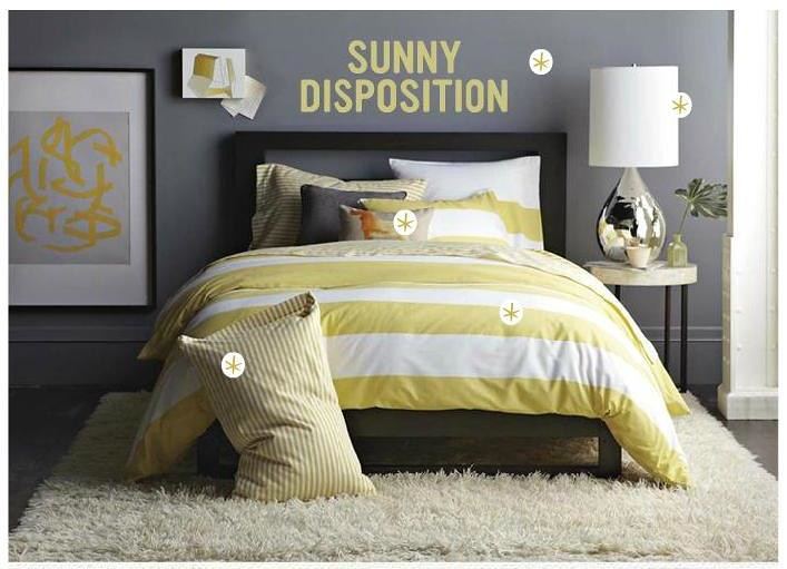 Gray + yellow bedroom: Benjamin Moore \'Shadow Gray\' in Wes… | Flickr