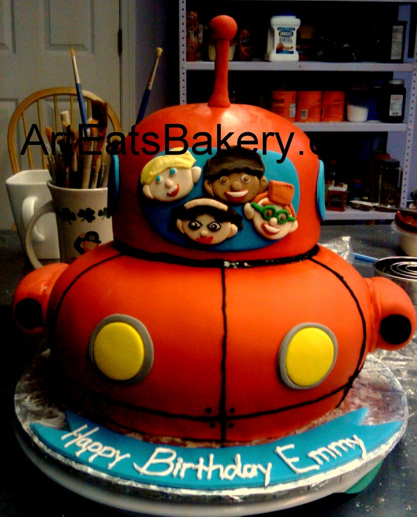 Awe Inspiring Little Einsteins Custom Fondant Unique Kids Birthday Cake Flickr Funny Birthday Cards Online Chimdamsfinfo