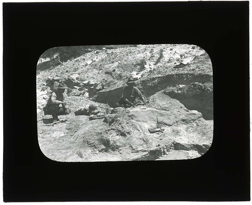Excavation of Dinosaur National Monument Quarry, 1923. | by Smithsonian Institution